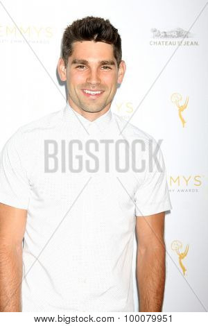 LOS ANGELES - AUG 26:  Justin Gaston at the Television Academy's Daytime Programming Peer Group Reception at the Montage Hotel on August 26, 2015 in Beverly Hills, CA