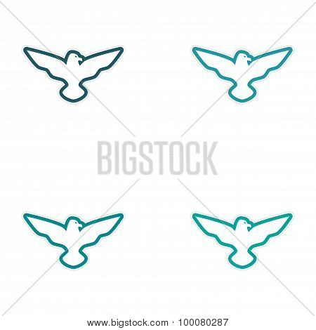 assembly sticker eagle silhouette
