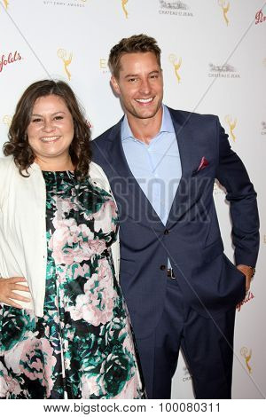 LOS ANGELES - AUG 26:  Angelica McDaniel, Justin Hartley at the Television Academy's Daytime Programming Peer Group Reception at the Montage Hotel on August 26, 2015 in Beverly Hills, CA