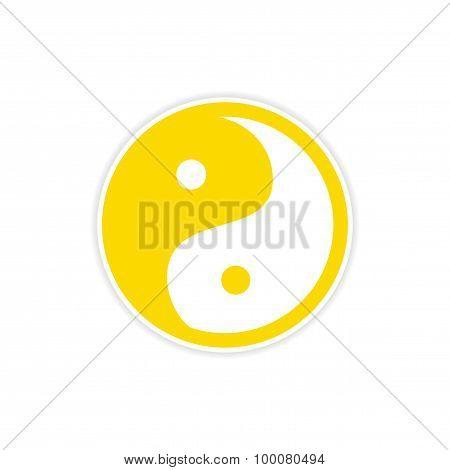 Sticker yin yang