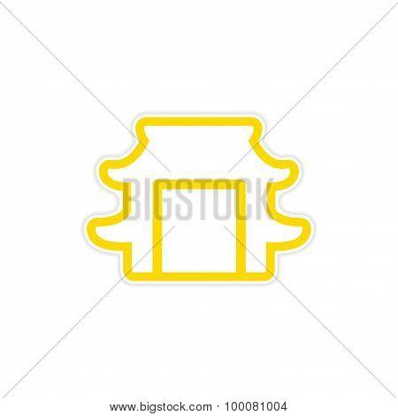 Sticker Japanese arch