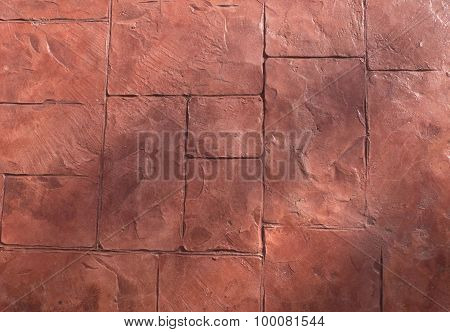 Horizontal Texture Of The Brown Stone Floor