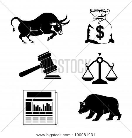 Business stock exchange.