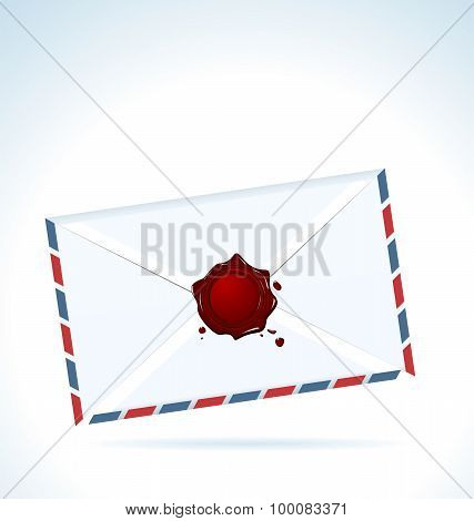 Illustration of the closed letter fastened by red sealing wax