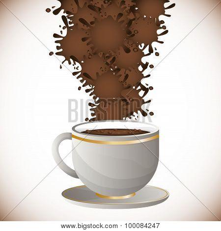Coffee splash  design
