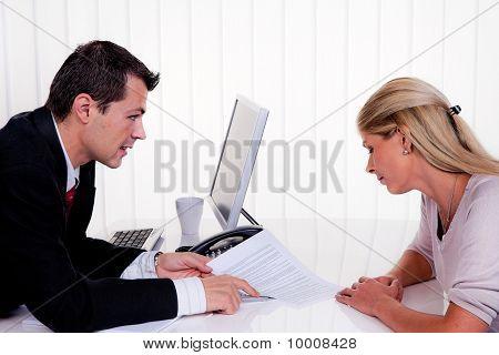 Diskussion auf einer Konsultation