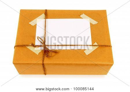 Brown Paper Package With Address Label