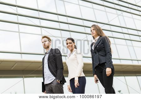 Young Business People Outdoors