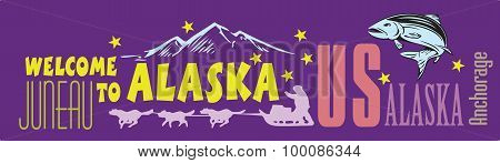 Banner Welcome To Alaska