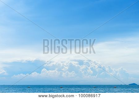 Blue Sky With Cloud And Tropical Sea