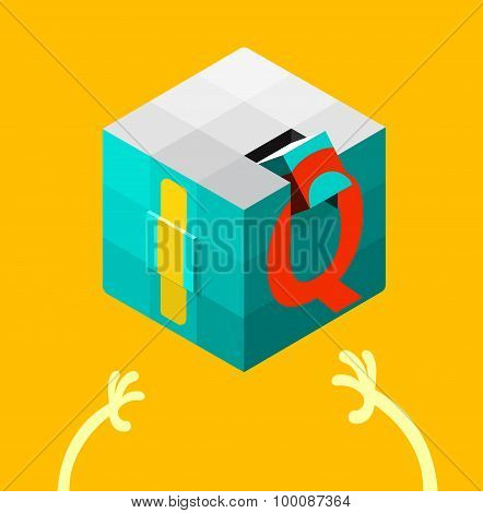Intelligence Quotient (iq) Test Concept. Vector Illustration.