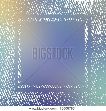 Vector Texture Frame On Blurred Background