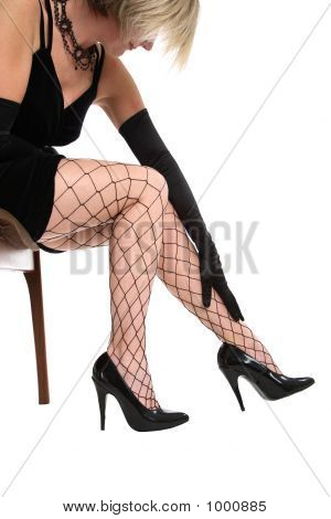 Fishnet Covered Legs