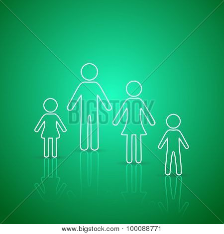 Family Members Outline Icons