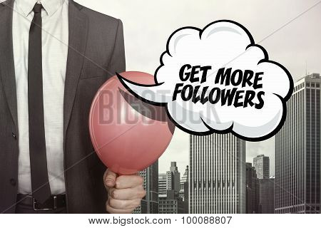 Get more followers text on speech bubble