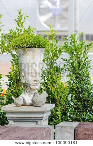 Cement Pot For Flower