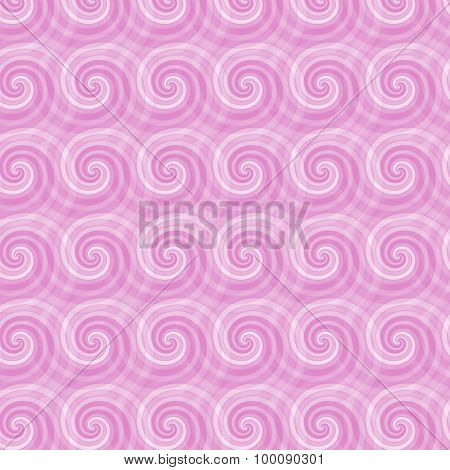 Seamless Pattern With Abstract Spirals