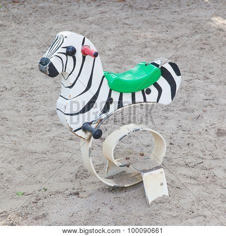 Spring Zebra, Outdoor Toy For Children