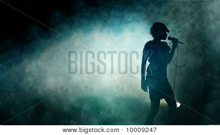 Singing Woman Silhouette