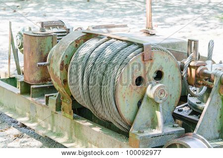 Old Big Cable Winch
