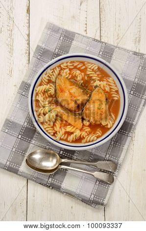 Carp Fish Soup With Noodle