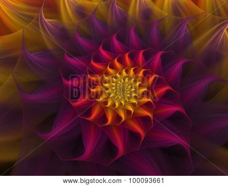 Flower Abstract Fractal Background
