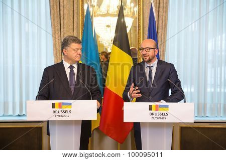 Petro Poroshenko And Charles Michel