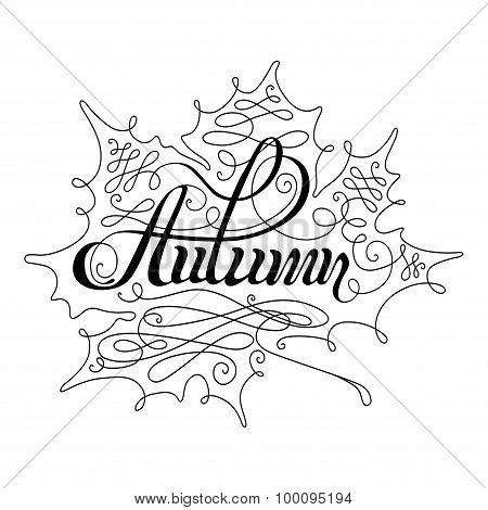 Autumn Calligraphic Lettering.