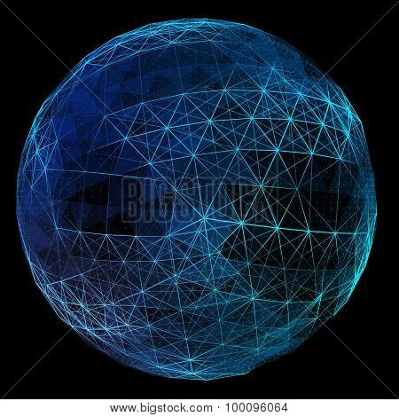 Abstract digital global network.