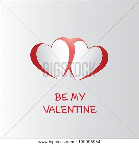 Vector Valentine's Day Poster Card