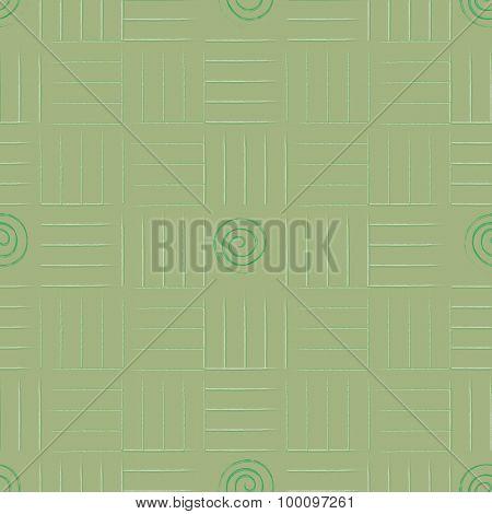 Geometric Green Seamless Background