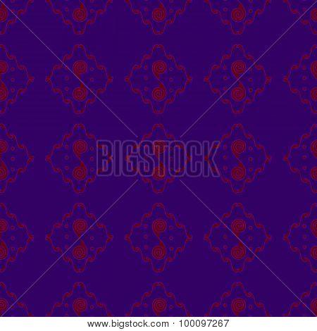 Red-purple Seamless Pattern Background
