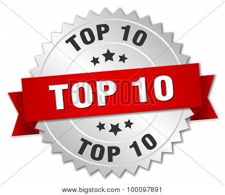 Top 10 3D Silver Badge With Red Ribbon