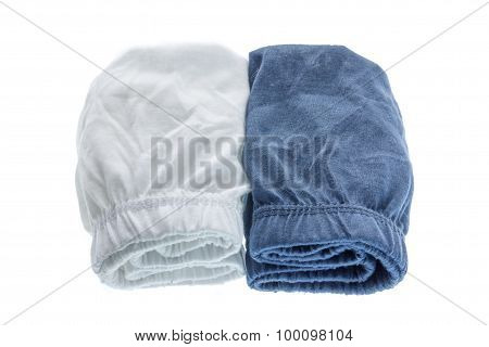 Pile Of Male Underwear On  White Background.