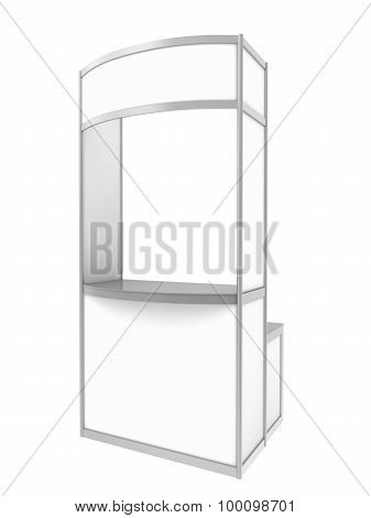 Blank Exhibition Trade Stand. isolated on white background