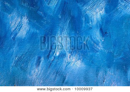 Blue Oil Paint Background