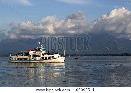 Steamship At Lake Chiemsee, Bavaria