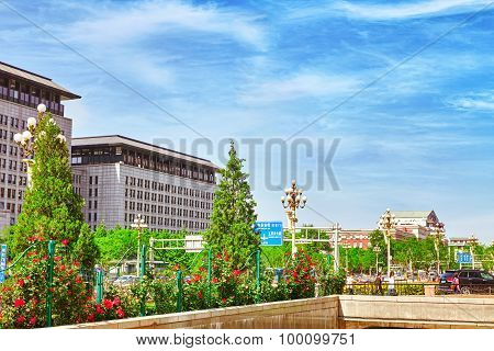 Beijing, China- May 18, 2015 :beijing-modern Office And Residential Buildings On The Streets Of Beij