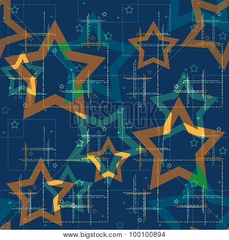 Seamless Pattern With Stars Background