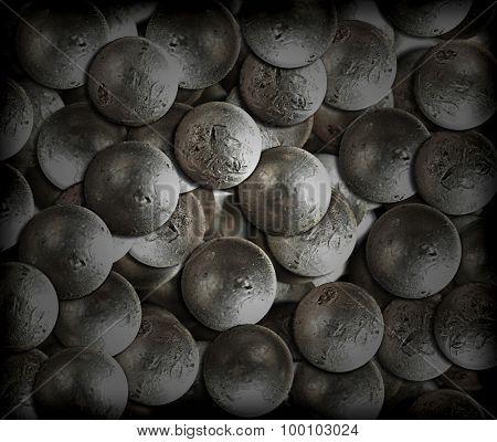 scattering background old rivets