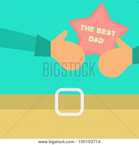 Vector Happy Fathers Day Concept