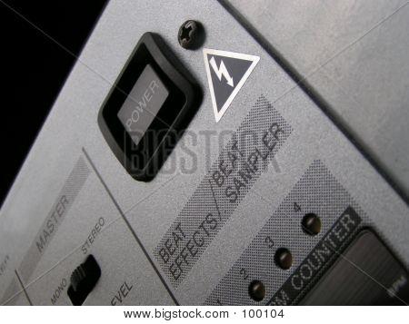 DJ Mixer Power Button