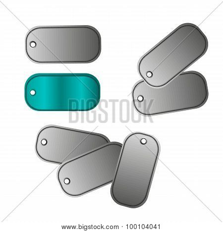 Tags Isolated On White