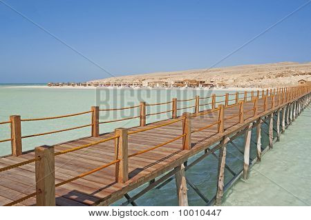 Tropical Beach With A Jetty