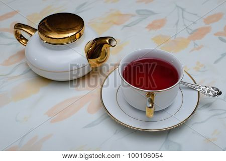 Tea Drink Of Rose Petals. 2
