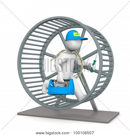 Electrician Hamster Wheel