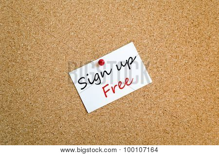 Sign Up Free Text Concept Note