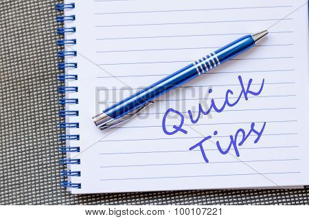 Quick Tips Text Concept Note
