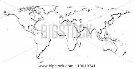 Mapa do mundo do detalhe