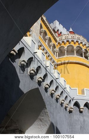 Tower Close Up Of The Pena National Palace